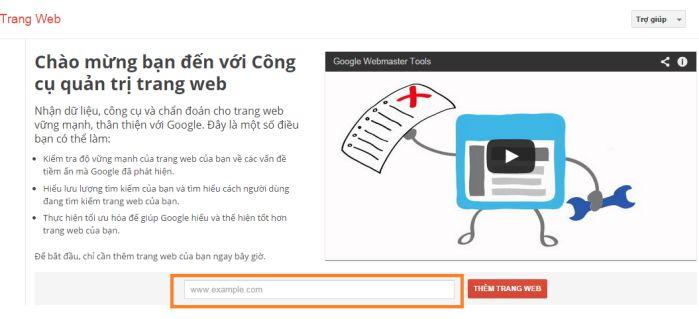 Hướng dẫn cài đặt Google webmaster tool