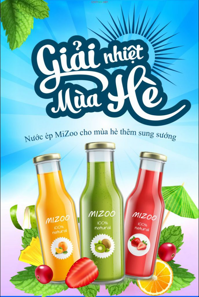 poster quảng cáo nước uống