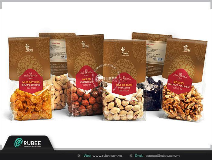 thiết kế bao bì thực phẩm tại rubee