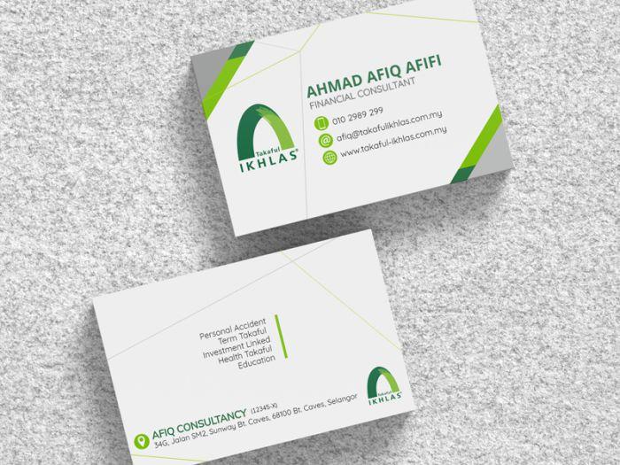 thông tin trên business card