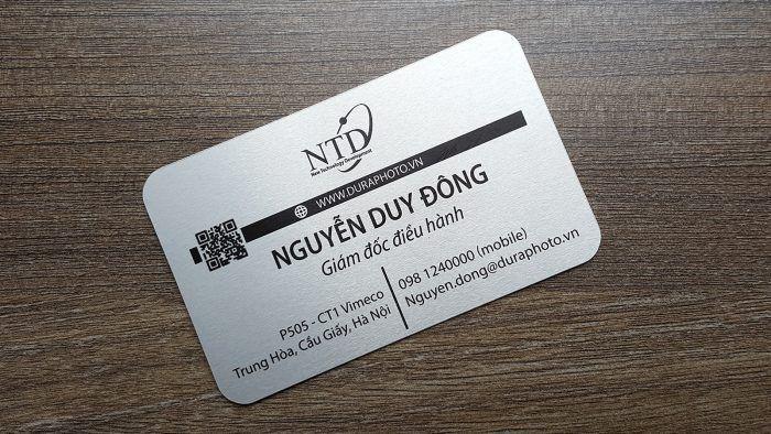 Name card bo góc