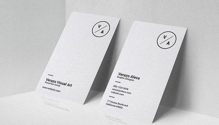 Thiết kế card visit theo phong cách tối giản