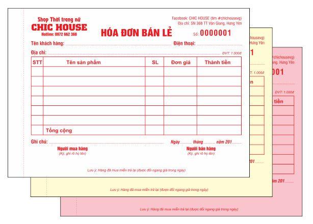 quy định về hóa đơn bán lẻ