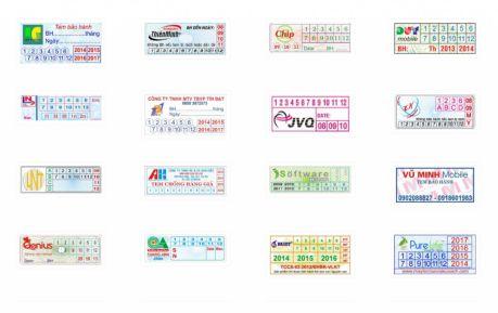 mẫu tem bảo hành chuyên nghiệp