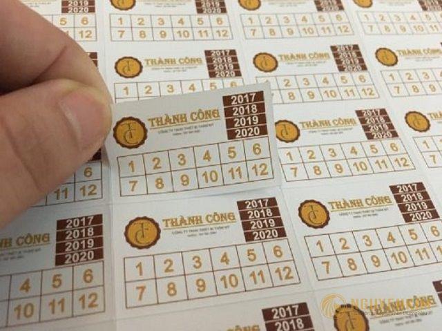 in tem bảo hành bằng decal giấy
